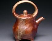 Wood Fired Handbuilt Teapot with Feet