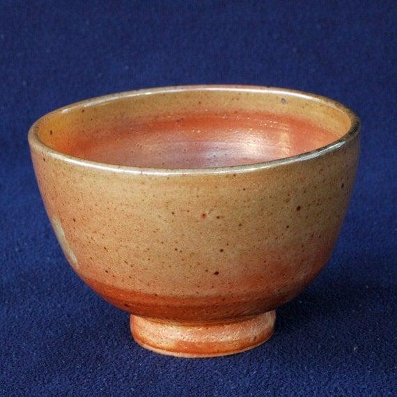 Golden/Orange Shino Glaze Chawan Bowl (B14)