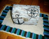 Personalized / Made to Order Box (examples nautical, school spirit, matching set with picture frame and pillow)