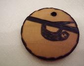 Custom order made especially for zaj1979: a sloth, a handmade and wood-burned embellishment