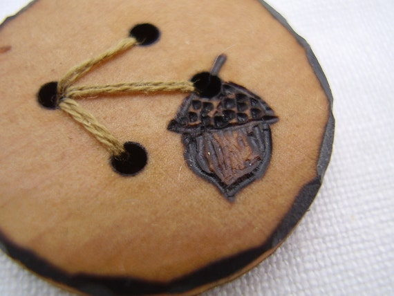 The littlest acorn a natural wooden button handmade and - What you can do with acorns a bit of health and embellishment ...