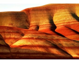 Photo Greeting Card of Painted Hills Image 2 of 4 Near Mitchell Oregon In Earth Tones of Red Orange and Gold