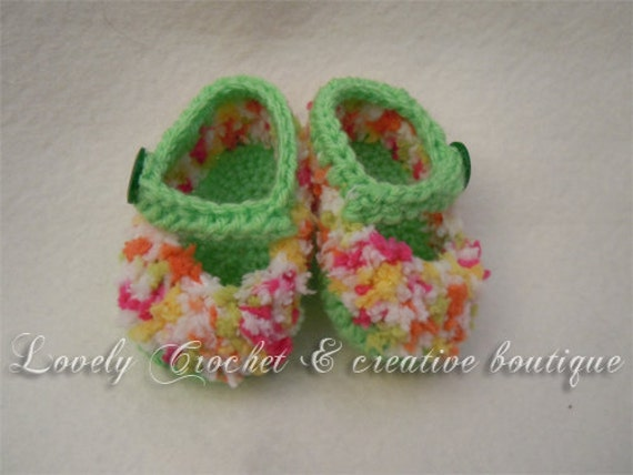 Sprinkles booties for baby girls-spring green you choose the color