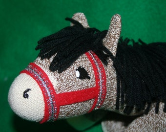 Handcrafted Sock Monkey Horse/Pony in assorted colors