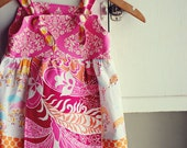 Its Raining Its Pouring Umbrella Knot Apron Dress & Ruffle Pant Set Sz. 12/18m l Ready To Ship