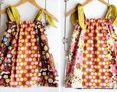 RTS Reversible  Tweet Bird Peace Flip Dress 2 in 1 Size 4/5