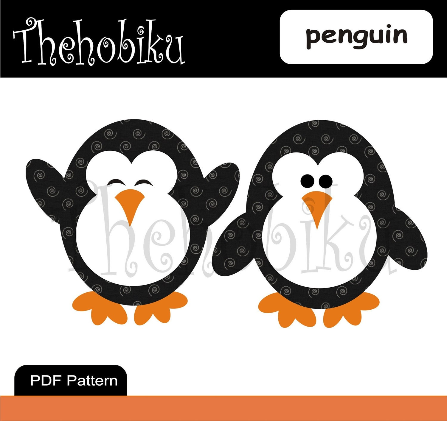 Penguin Template Craft Pdf applique template penguin