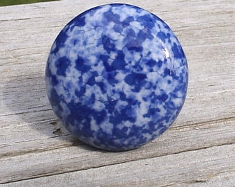 11 Blue and White Speckled Ceramic Cabinet Knobs Drawer Pulls