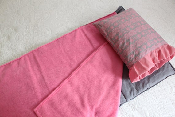 Girl's Nap Mat Cottage Chic, Back to School, Toddler mat, day school sleep pad, pink and grey