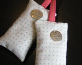 gift pack of 2 lavender sachets with inspirational charms