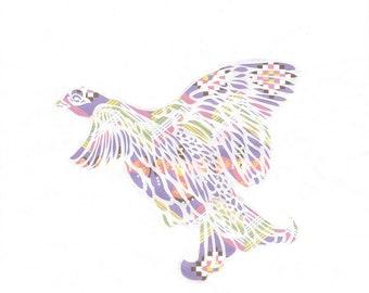 Cut Paper Bird - Grouse