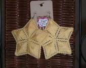 Star light Star bright yarn earrings