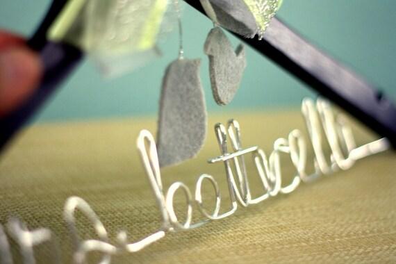 Love Birds - Custom Bridal Wedding Hanger