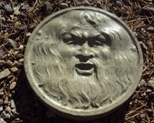 Cast Concrete Green Man Stepping Stone Perfect For Your Garden