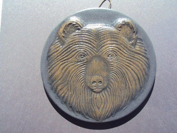 Bear Face Wall Hanging Beautiful Unique Ready To Hang