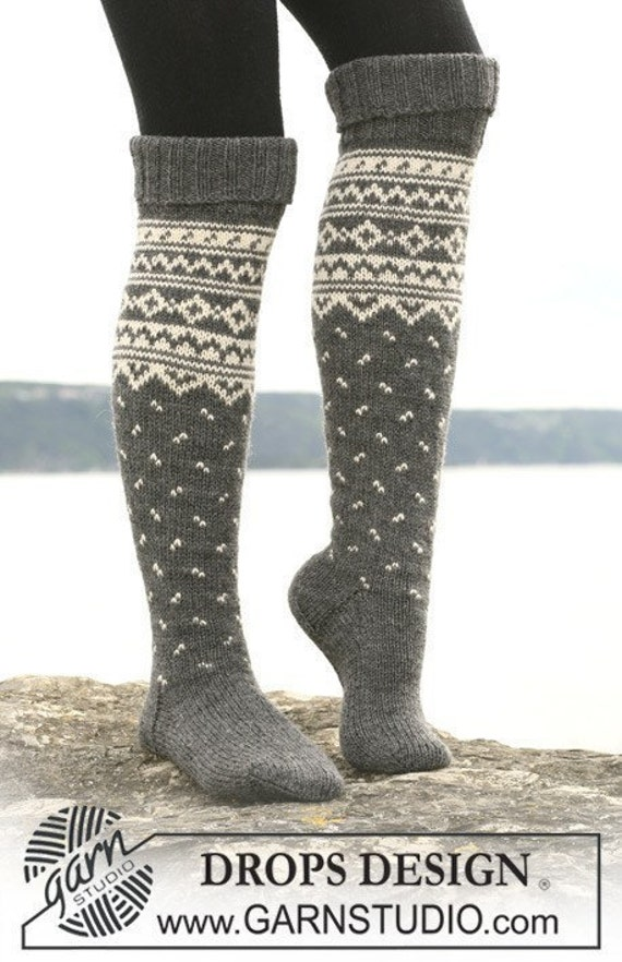 items similar to knee high boot socks knit