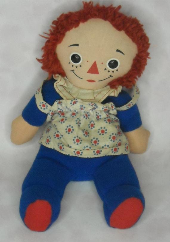 Vintage 70s Raggedy Ann Bean Bag Doll