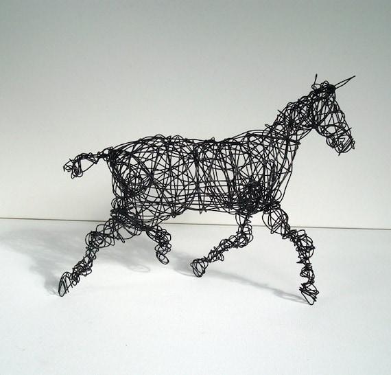 Unique Wire Horse Sculpture - THE TRAKEHNER