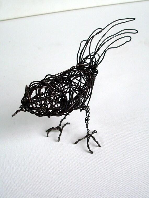 Handmade Wire Bird Sculpture - LONGTAIL