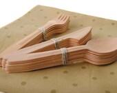 Wooden Cutlery (24 pieces)