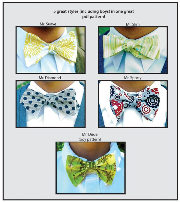 Mr. Hipster Bow Tie Pattern eBook pdf Men and Boy's 5