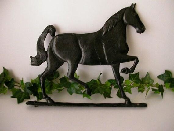 Large Metal Horse, Vintage Retro Folk Art Primitive Rustic Cottage Barn Shabby Paint
