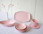 Pink Vintage Melmac Windsor Set 1950s Melamine Retro Deco Mid Century Modern