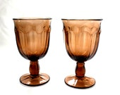 Brown Glasses, Depression Glass, Thanksgiving Table, Vintage Thanksgiving, Brown, Clove, Cordial, Goblets, Chocolate,