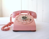 Pink Rotary Phone Western Electric Model 500 Made in 1950s