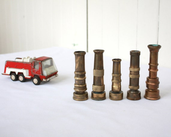 Vintage Hose Nozzles, Vintage Gardening, Vintage Hardware, Vintage Nozzle, Instant Collection, Vintage Brass, Copper