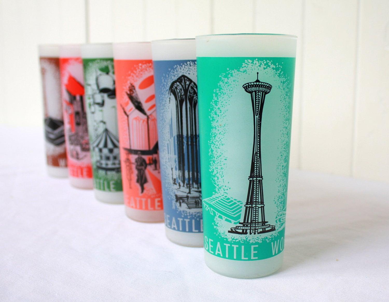 Vintage Eyeglass Frames Seattle : Vintage Glasses Seattle Worlds Fair 1962 Set of 6