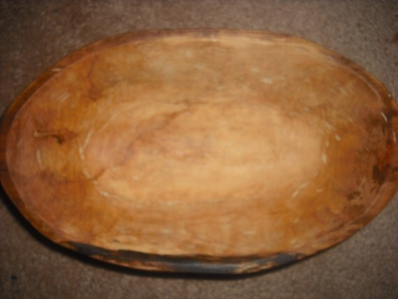 Hand Carve oval Maple Bowl, 121