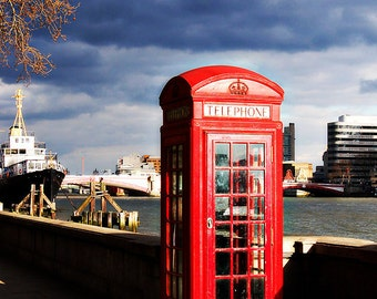 Stormy London Phone Booth
