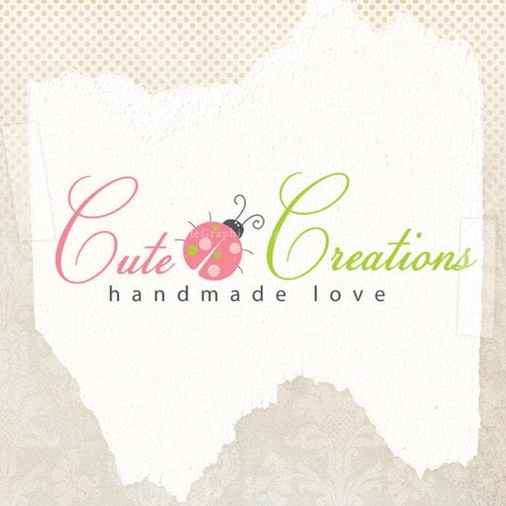 Premade ooak logo design and watermark sweet boutique logo business branding photographer logo