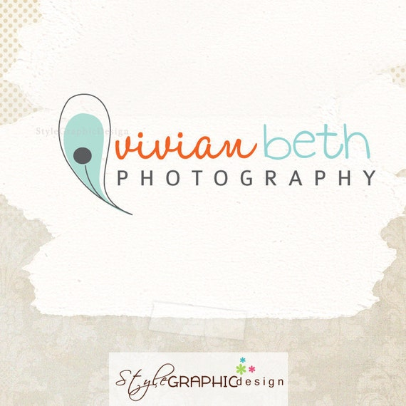 Unique premade logo design photographer logo boutique logo professional branding and watermark