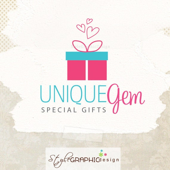 Cute Gift Business Logo Design Ooak Premade Logo In Two