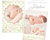 JellyBean, MIller's Lab 5x7 Flat Flower Print Card Template for Photoshop and PS Elements
