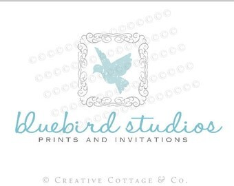 EXCLUSIVE OOAK Premade Photography Logo and Watermark, Bluebird- Never Sold Again