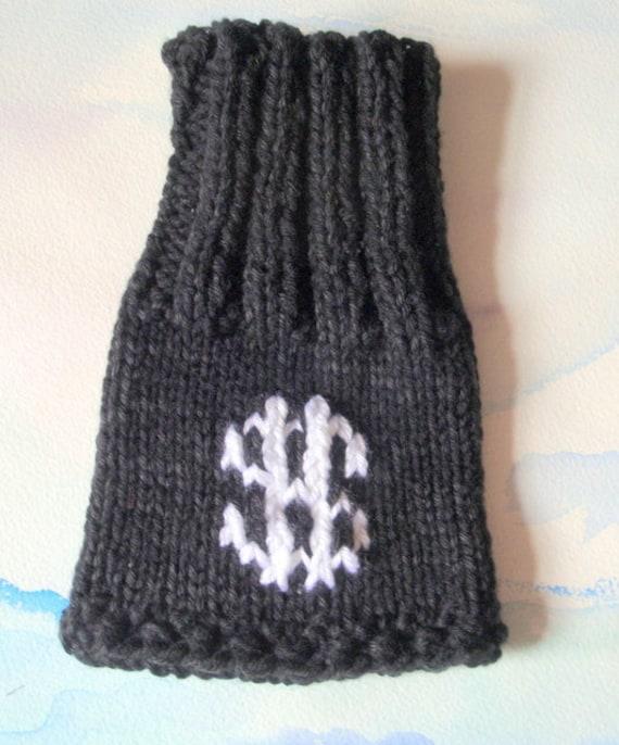 Toe warmer cast sock hand knit in black by GrandmaSillysShoppe
