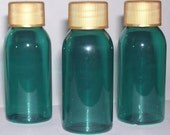 10 pack Teal Green 1 ounce Bottles with Gold Screw Caps
