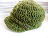 Child & Pre-teen Olive Brimmed Hat