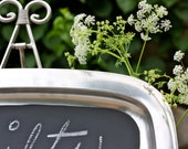 """17.35"""" x 12"""" Extra Large Reclaimed Rectangle Chalkboard Tray"""