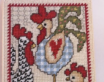 Journal with  Country Chickens   Needlecraft  journal is refillable  -  I pay shipping