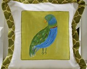 Parrot Tropical Pillow Cover Green and Blue