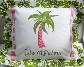 SALE Isle of Palms Pillow Cover