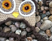 Toddler Owl Hat in Natural Colors