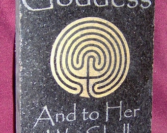 We All Come from the Goddess, Marble Plaque