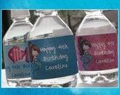 Mermaid Party Water Bottle Labels - Custom Printable