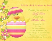 Easter Chick Baby Shower Invitation - Printable and Custom Invite