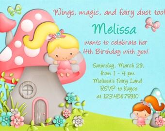 Fairy Invitation - Fairy Birthday - Fairy Party Invite - Printable Fairy Invite Invitation